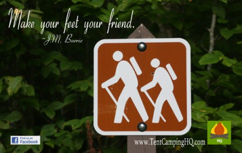 Make your feet your friend.