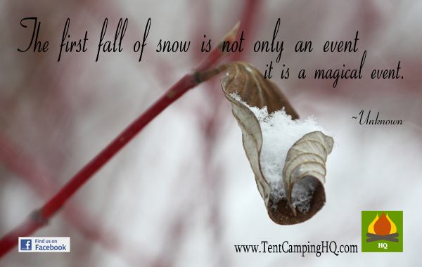 The first fall of snow is not only an event its a magical event.