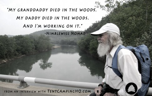 My granddaddy died in the woods. My daddy died in the woods. And I'm working on it.