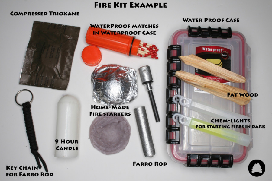 how to build your own fire starter kit